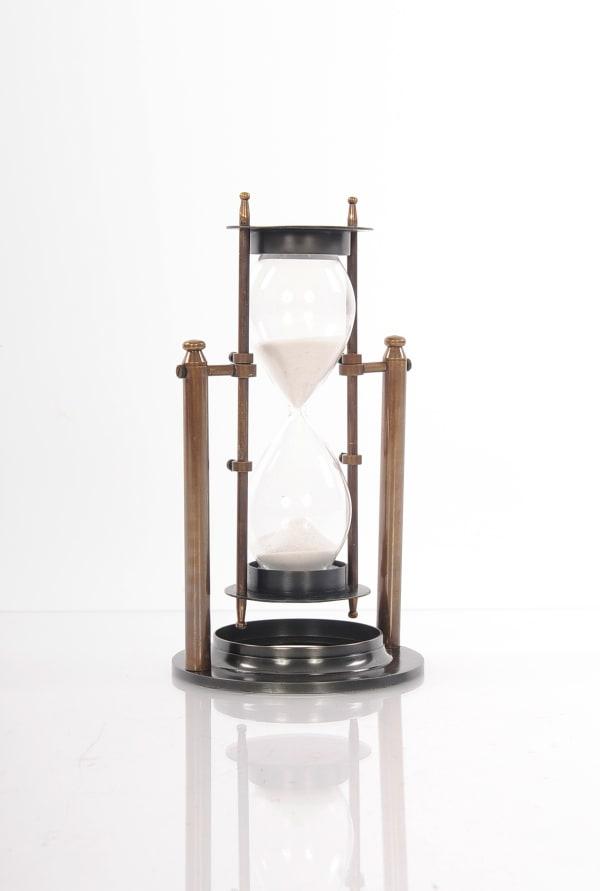 Antique Look Revolving Hourglass