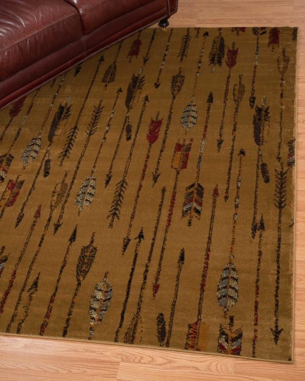 Neutral Colors Southwest Lodge Runner Area Rug