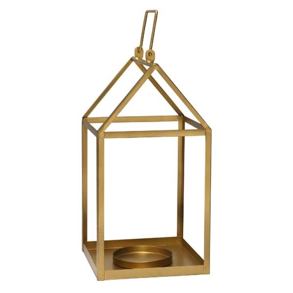 Golden Open Metal Lantern