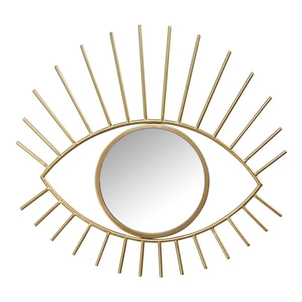 Gold Metal Eye Wall Mirror