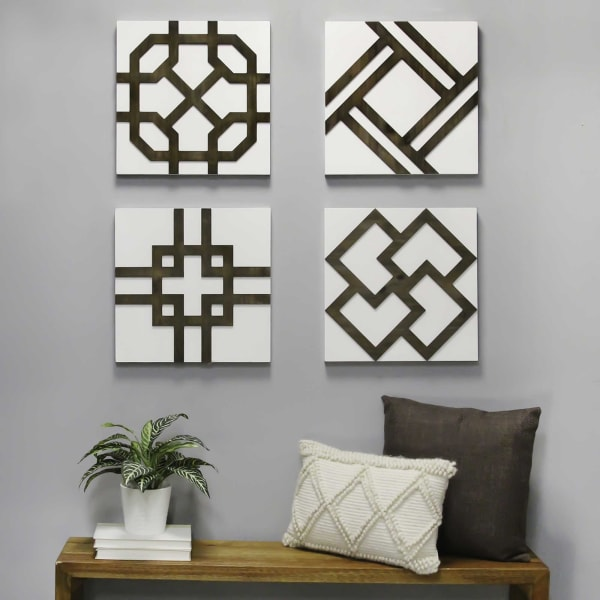 Handcrafted Wood  Metal Accent Wall Decor