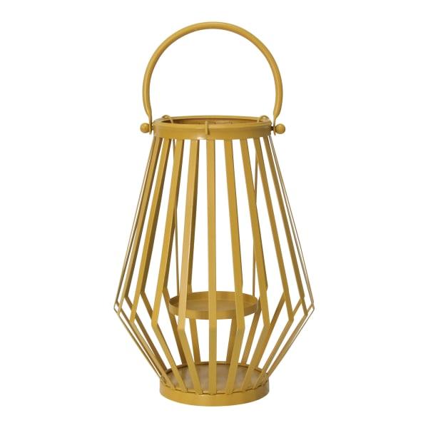 Handcrafted Yellow Metal Lantern