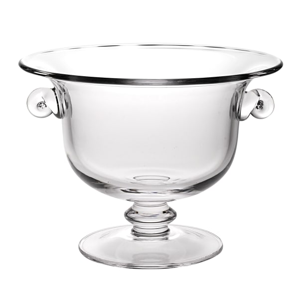 Crystal European Made Mouth Blown Trophy Centerpiece  Fruit  Bowl