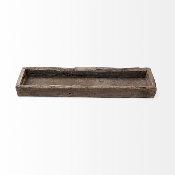 Grains And Knots Medium Natural Brown Reclaimed Wood Highlight Tray