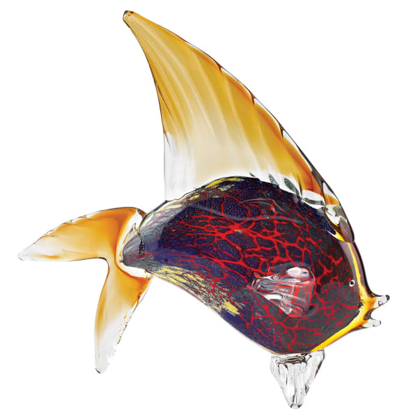 Tropical Fish Figurine Art Glass