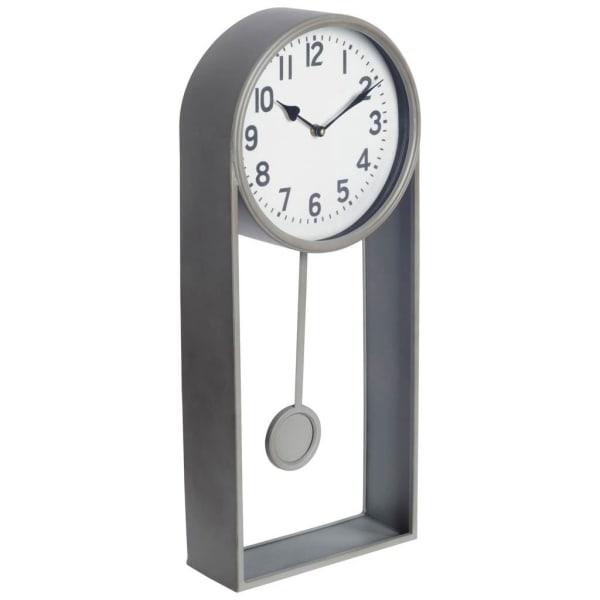 Small Pendulum Silver Clock