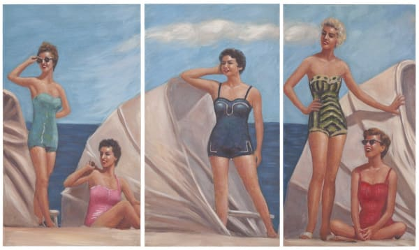 By The Sea Triptych Wall Art
