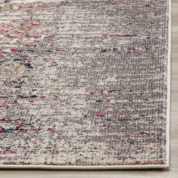 Gemma Grey and Ivory Polypropylene Rug
