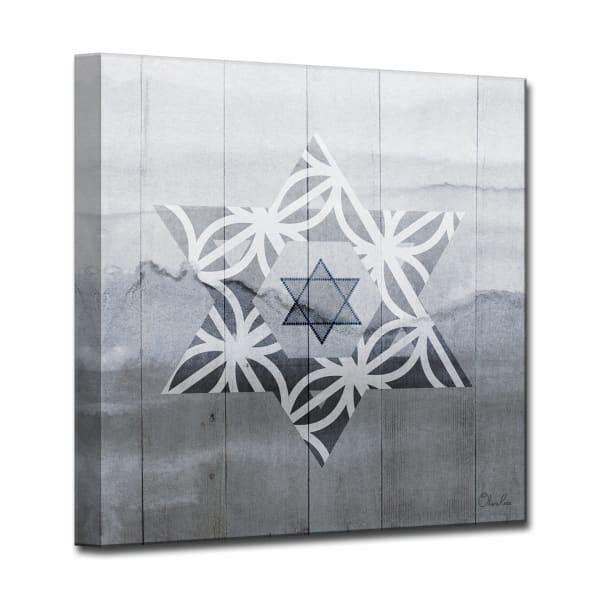 Star VI Medium Dusk Wrapped Canvas Wall Art