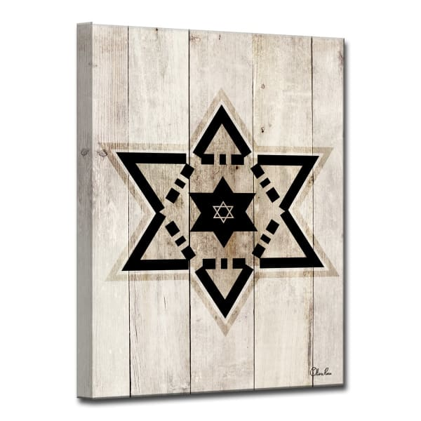 Star VIII Small Black Wrapped Canvas Wall Art