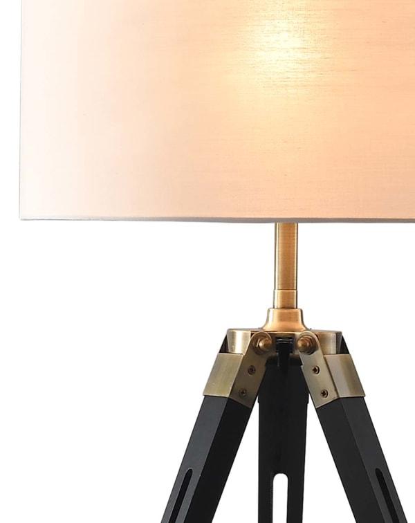 Surveyor Tripod Matte Black Table Lamp