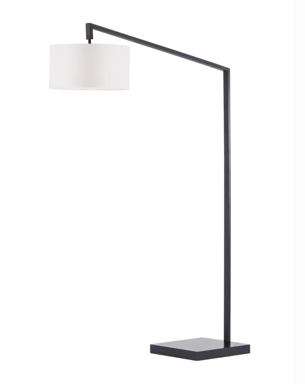 Stretch Chairside Matte Black Arc Lamp