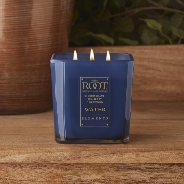 Root Candles Elements 14.5 oz. 3 Wick Candle, Water