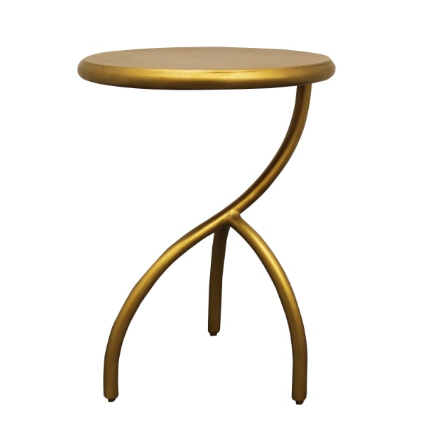 Lacey Antique Brass Finish Iron End Table