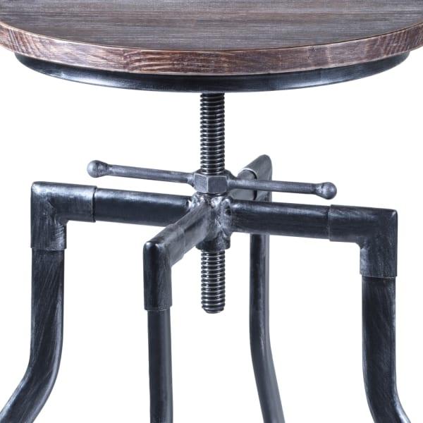 Concord Industrial Grey Adjustable Stool