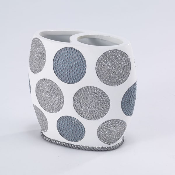 Dotted Circles Toothbrush Holder