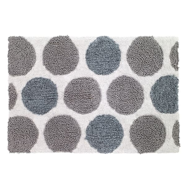 Dotted Circles Shower Rug