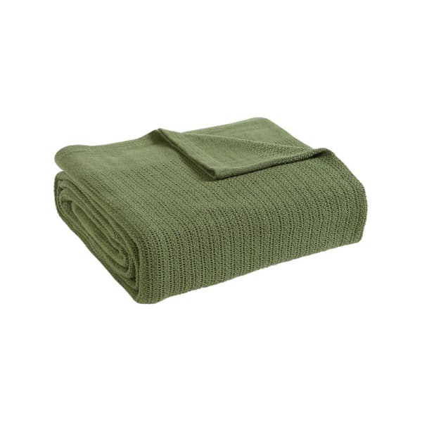 Avanti Fiesta Green Full Queen Blanket