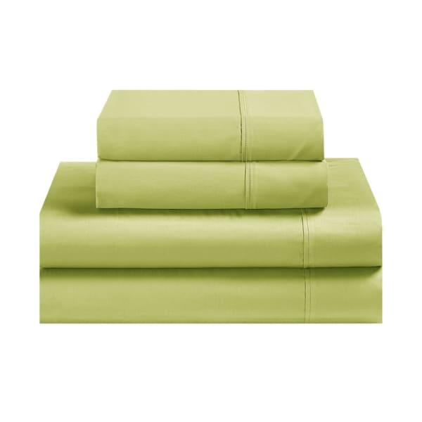 Avanti Fiesta Lemongrass Green Queen Sheet Set
