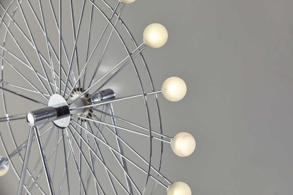 Chrome Ferris Wheel Large Table Lamp