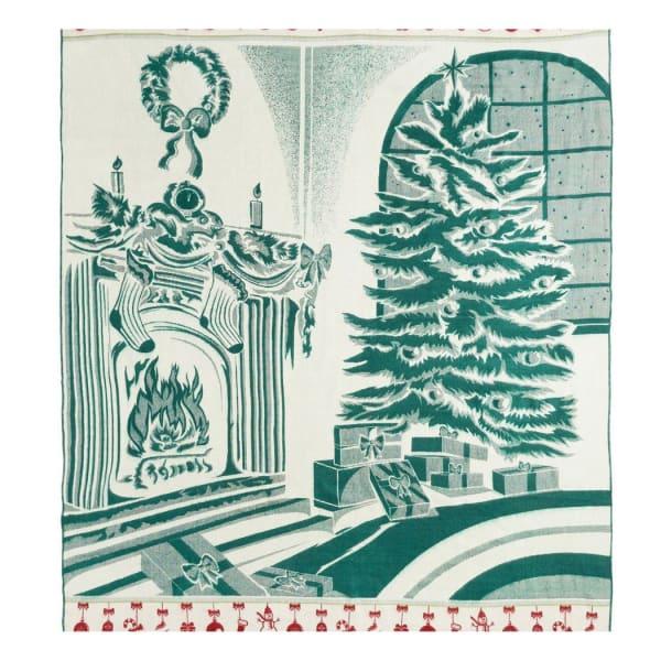 Queen Size Ultra Soft Green Christmas Handmade Woven Blanket