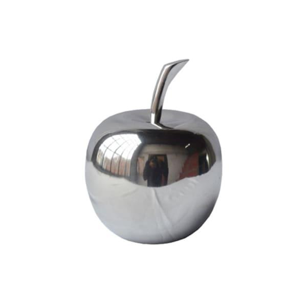 Silver Polished Mini Apple Shaped Aluminum Accent
