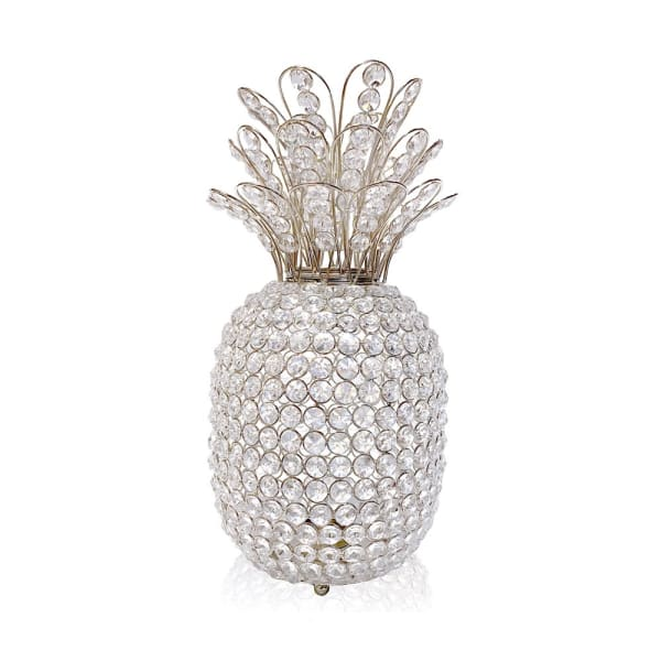 Pineapple Faux Crystal Sculpture