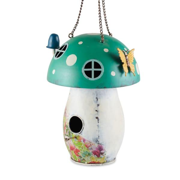 Green Mushroom Birdhouse
