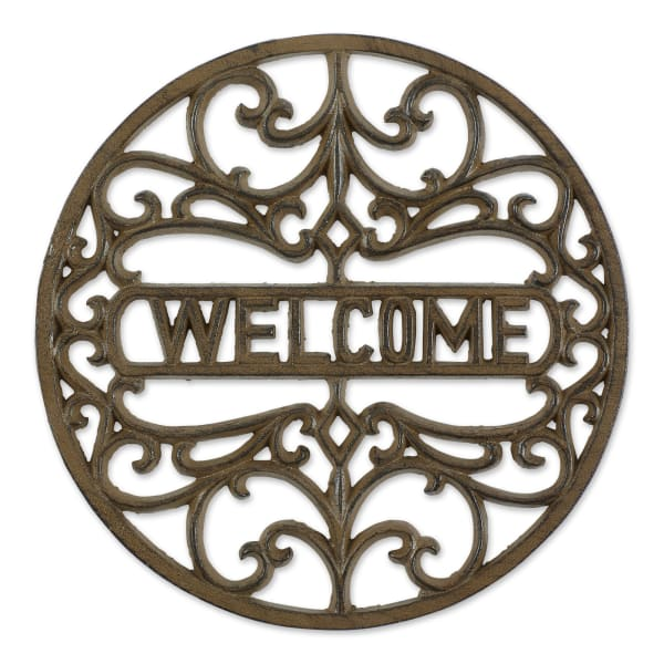 Welcome Cast Iron Stepping Stone
