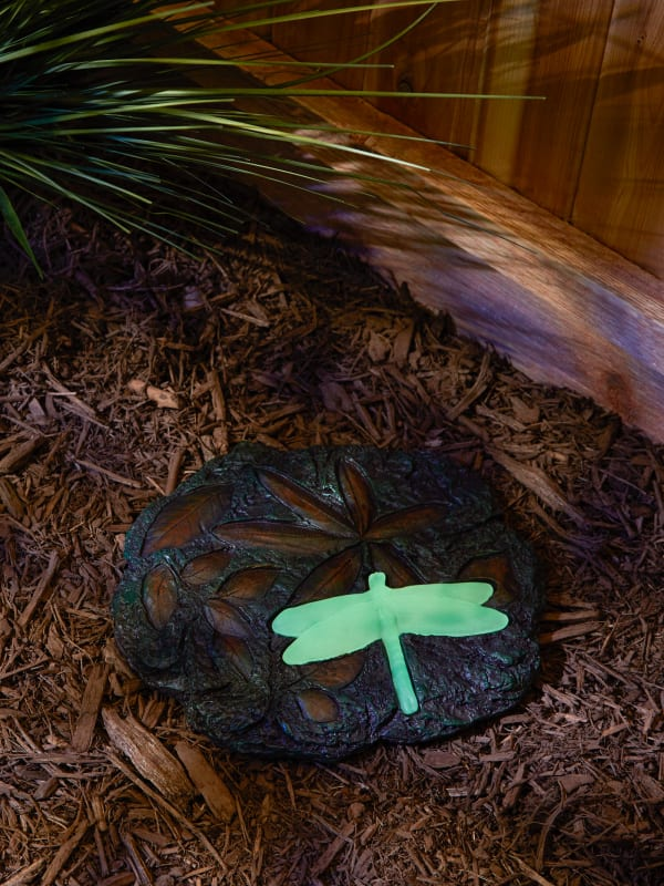 Dragonfly Glowing Stepping Stone