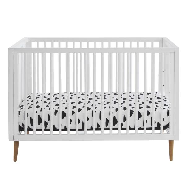 White 3 in 1 Convertible Crib