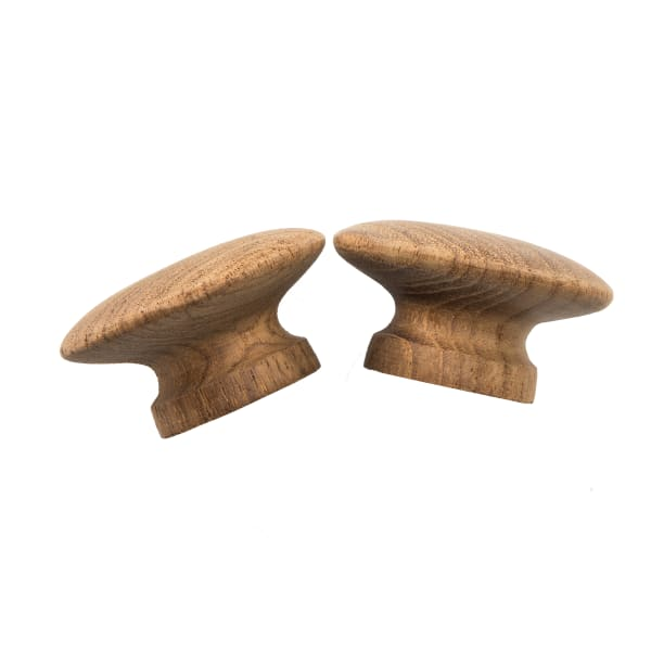 Round Teak Outdoor Set of 2  Drawer Knobs