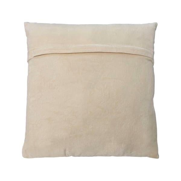 Ryan Square Cotton Silver Navy Decorative Throw Pillow