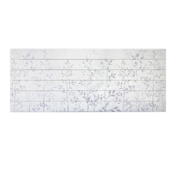 Gray Leaves Print on Wood Wall Art