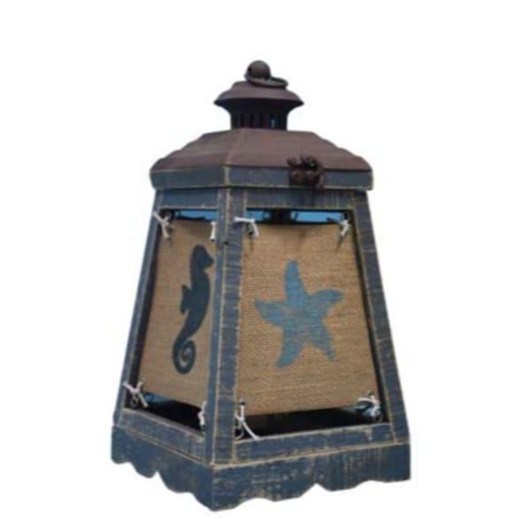Coastal Icons Cape Lantern Blue Accent Lamp