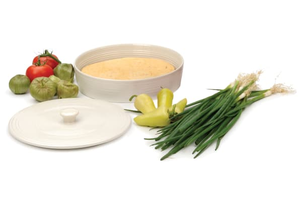 Stoneware White Tortilla Warmer