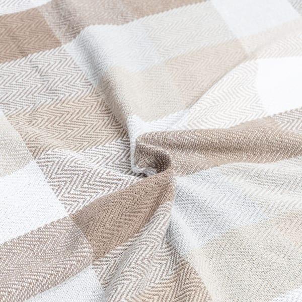 Herringbone Check Cotton Queen Blanket