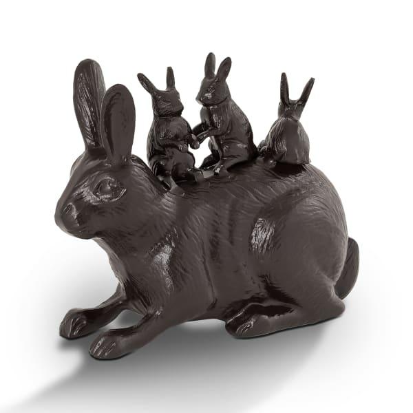 Bunny Bonanza Dark Grey Aluminum Garden Sculpture