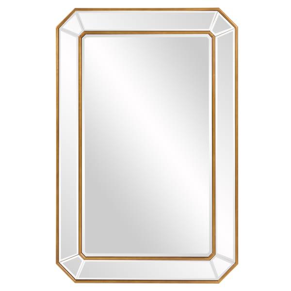 Rectangle Gold Leaf Angled Corners Frame Mirror