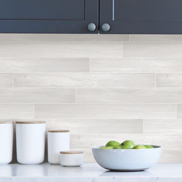 Timber Tile Peel and Stick Backsplash