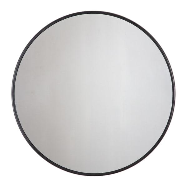 Adelina Black Circular Wall Mirror