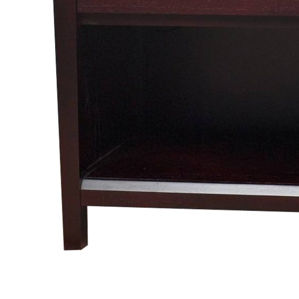 Power Outlet Wooden Brown Nightstand