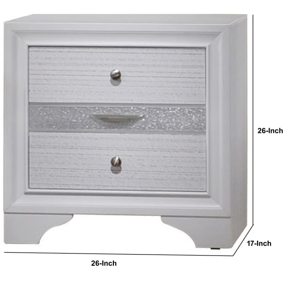 Naima Stylish 3-Drawer Wood White Nightstand