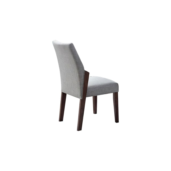 Mid Century Fabric Side Chair with Extended Arms, Set of 2, Gray