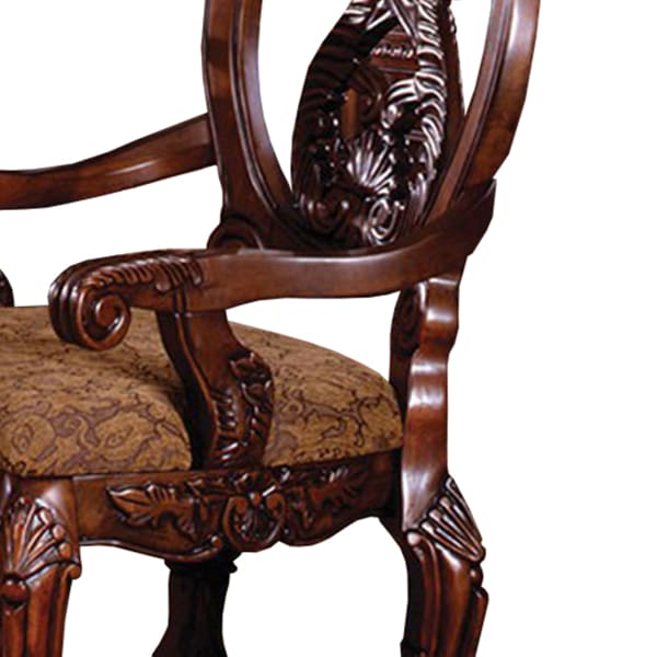 Tuscany II Traditional Arm Chair, Antique Cherry, Set of 2