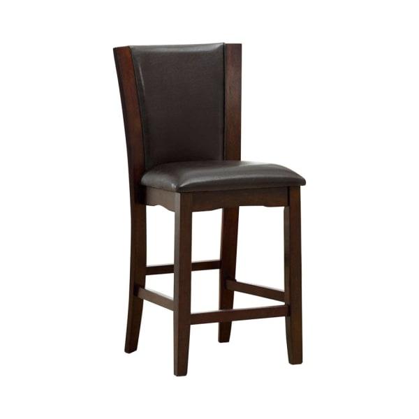 Manhattan III Contemporary Manhattan Counter Height Chair, Dark Cherry, Set of 2