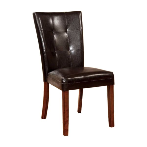 Elmore Contemporary Side Chair With Dark Brown, Antique Oak Finish, Set of 2