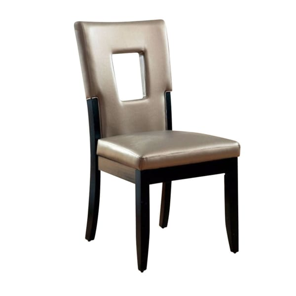 Evant I Contemporary Side Chair, Black Finish, Set of 2