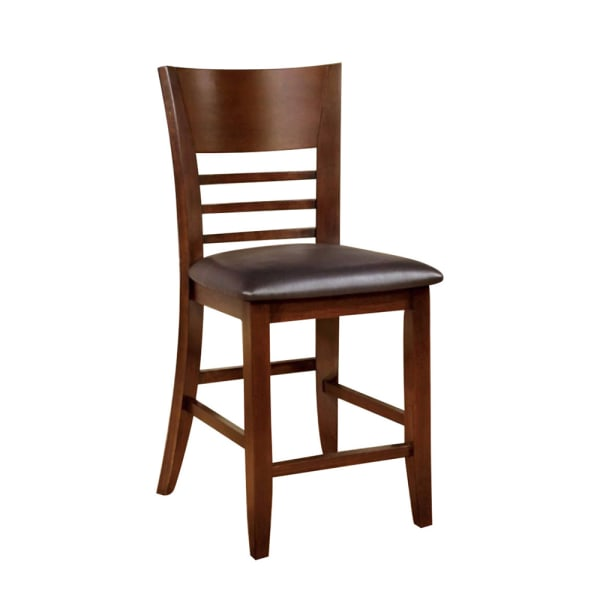 Hillsview I Transitional Counter Hight Chair, Brown Cherry, Set of 2