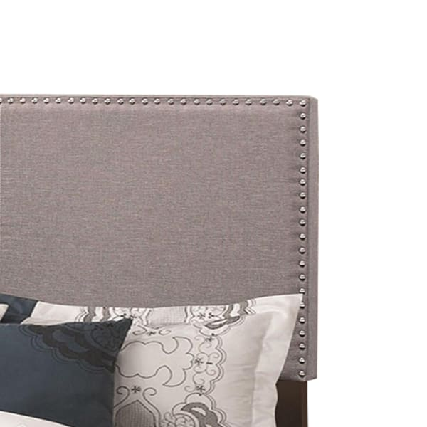 Explicitly Crisp Upholstered Cal King Bed, Gray